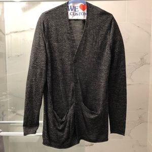 Cos oversized longline gray wool cardigan S